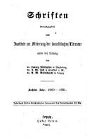 Jahrbuch f  r die Geschichte der Juden und des Judenthums PDF