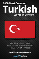 2000 Most Common Turkish Words in Context