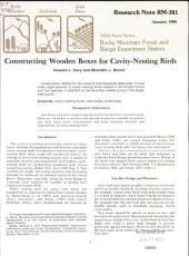 Constructing wooden boxes for cavity-nesting birds