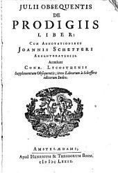 Julii Obsequentis De Prodigiis Liber