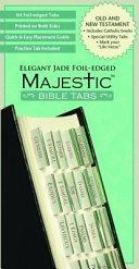 Majestic Elegant Jade Foil-Edged Bible Tabs