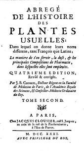 Abrégé de l'histoire des plantes usuelles: Volume2