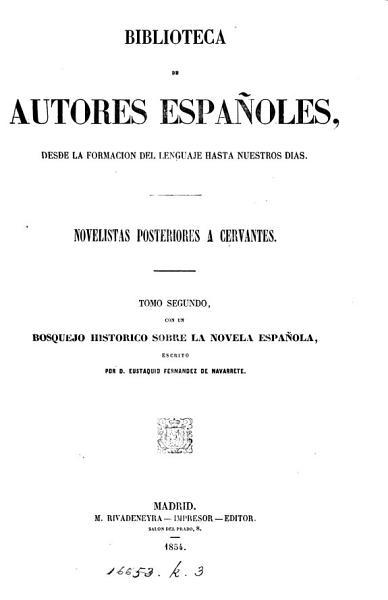 Bosquejo histórico sobre la novela española