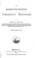 The Maori Polynesian Comparative Dictionary PDF