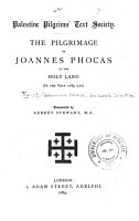 The Pilgrimage of Joannes Phocas in the Holy Land PDF