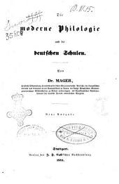 Moderne Philologie und die deutschen Schulen