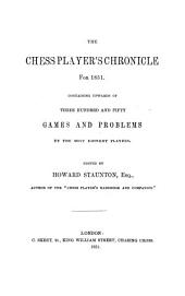 The chess player's chronicle: Volume 12