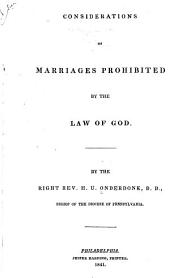 Considerations of Marriages Prohibited by the Law of God