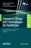 Internet of Things  IoT  Technologies for HealthCare PDF