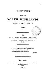 Letters from the North Highlands, During the Summer 1816