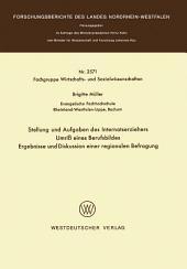 Stellung und Aufgaben des Internatserziehers: Umriß eines Berufsbildes, Ergebnisse und Diskussion einer regionalen Befragung