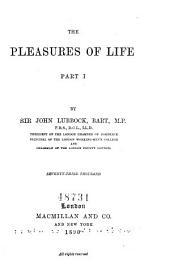 The Pleasures of Life: Volume 1