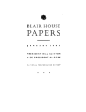Blair House Papers