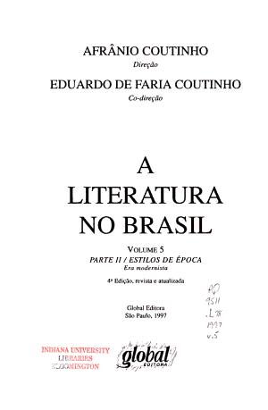A literatura no Brasil PDF