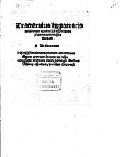 Tractatulus Hypocratis medicorum optimi de aspectibus planetarum versus lunam