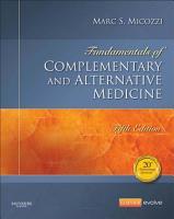 Fundamentals of Complementary and Alternative Medicine   E Book PDF