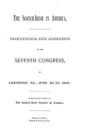 Proceedings of the Scotch Irish Congress: Volume 7