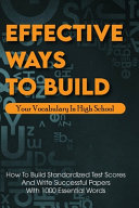 Effective Ways To Build Your Vocabulary In High School PDF