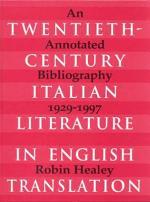 Twentieth-century Italian Literature in English Translation