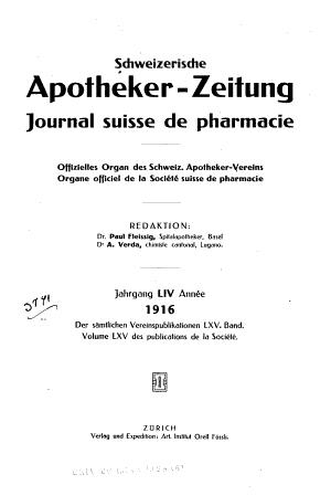 Giornale svizzero di farmacia PDF
