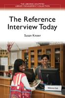 The Reference Interview Today PDF
