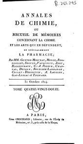 Annales de chimie ou Recueil de mémoires concernant la chimie et les arts qui en dépendent: Volume92