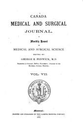 The Montreal Medical Journal: Volume 7