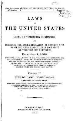 Laws of the United States of a Local Or Temporary Character     PDF