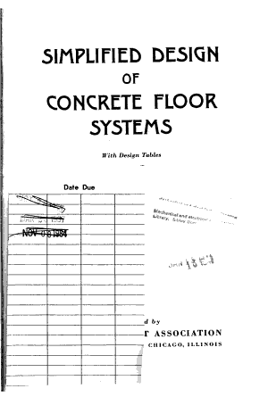 Simplified Design of Concrete Floor Systems PDF
