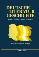 Deutsche Literaturgeschichte PDF