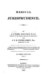 Medical jurisprudence: Volume 1