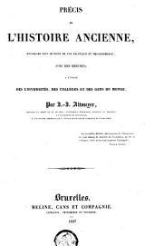 Précis de l'histoire ancienne: envisagée sous le point de vue politique et philosophique