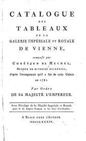 Catalogue des tableaux de la Galerie Impériale et Royale de Vienne