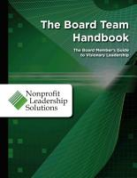 The Board Team Handbook PDF