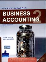 Frank Wood S Business Accounting Volume 2  11 E PDF