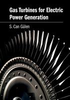 Gas Turbines for Electric Power Generation PDF
