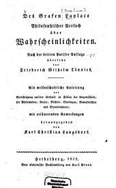 Des Grafen Laplace Philosophischer Versuch über Wahrscheinlichkeiten