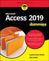 Access 2019 For Dummies PDF