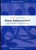 Equal Democracies  PDF