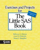 Exercises and Projects for The Little SAS Book  Fifth Edition PDF