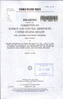 Energy water Nexus PDF