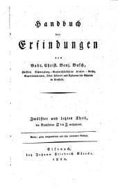 Handbuch der Erfindungen: Band 12