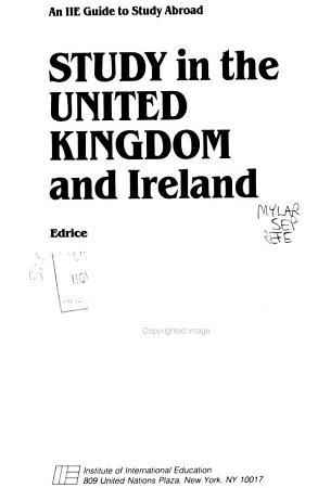 Study in the United Kingdom and Ireland PDF