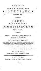 Nonnou tou Panopolitou Dionysiakon: Libros I-XXIV complectens