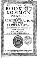 The Book of Common Prayer  and Administration of the Sacraments  and Other Rites and Ceremonies of the Church of England  PDF