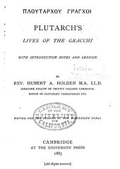 Plutarch's lives of the Gracchi