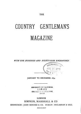 The Country Gentleman s Magazine   PDF
