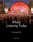 Music Listening Today: Advantage Edition