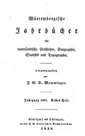 Württembergische Jahrbücher für Statistik und Landeskunde
