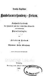 Deutsch-englisches handelscorrespondenz-lexicon